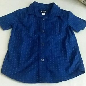 3T Boy short sleeve button down